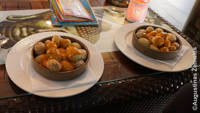 Bulvės su aštriu padažu