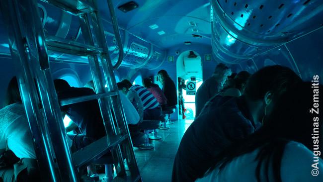 Povandeniniame laive Gran Kanarijoje