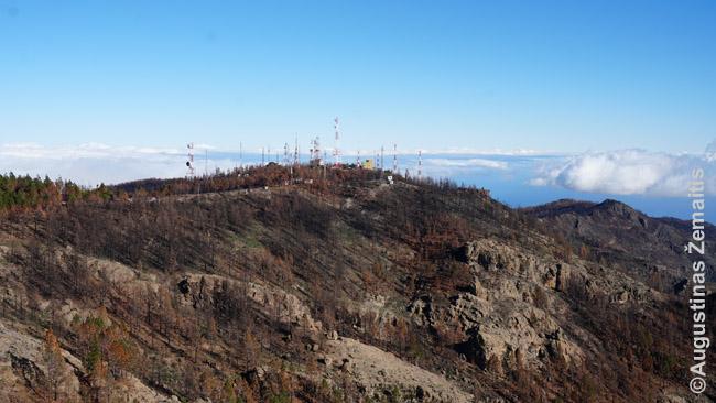 Vaizdas į ispanų karo bazę nuo Nieveso viršukalnės