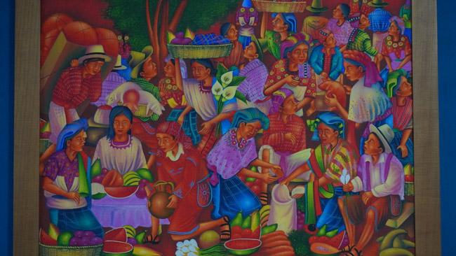 Šiuolaikinio majų meno stilius