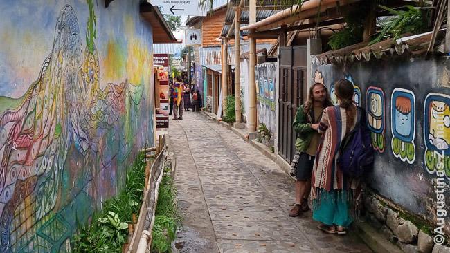 San Marko prie Atitlano gatvelės vaizdas