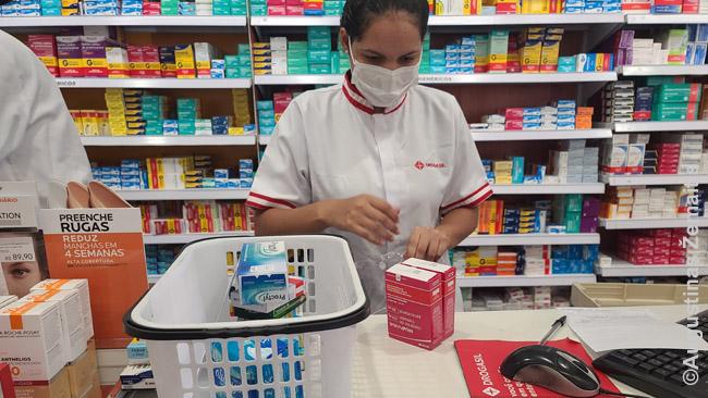 Apsipirkimas vaistinėje Brazilijoje pagal daktaro receptą