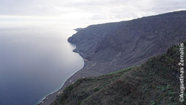 Laukinės El Hierro pakrantės vaizdai