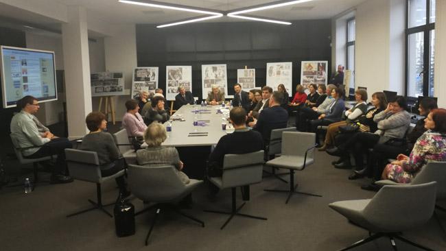 Diskusija apie Amerikos lietuvių paveldo ateitį Nacionalinėje Martyon Mažvydo bibliotekoje, kur pristatyti ir 'Tikslas - Amerika' projekto rezultatai