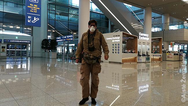 Tuščiame Inčeono oro uoste