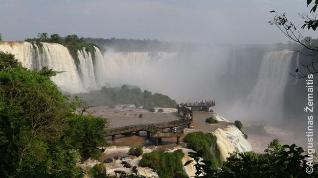 Igvasu kriokliai (nuotrauka iš Brazilijos pusės)