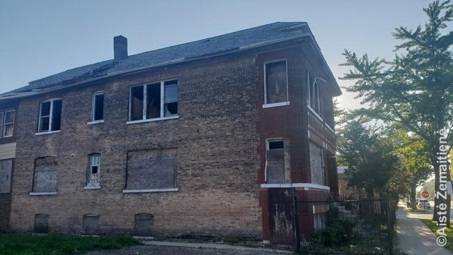 Apleistas namas Market Parke, greičiausiai priklausęs lietuviams