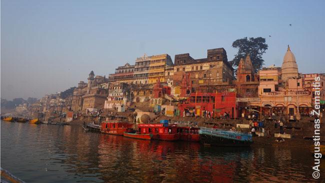Gango pakrantė iš laivo