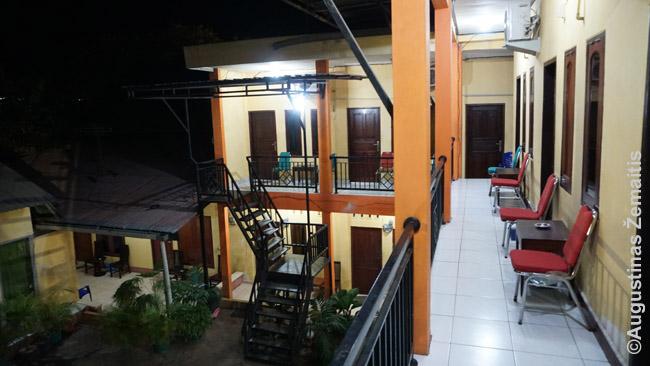 Klasikinio Indonezijos Homestay terasa