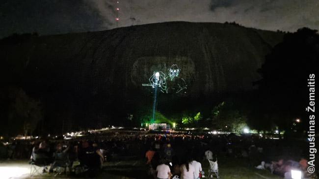Lazerių šou Stone Mountain
