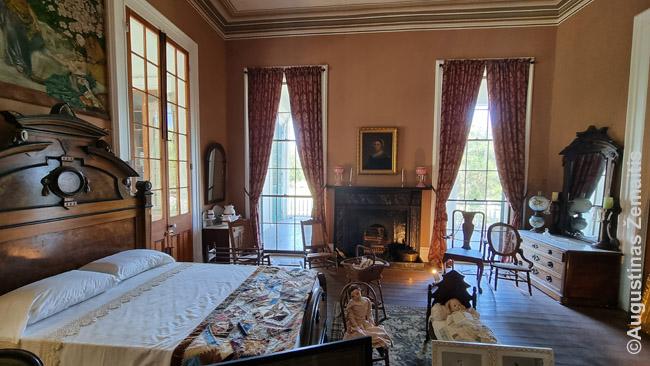 Turistams atverto istorinio JAV Pietų gyvenamojo namo vidus