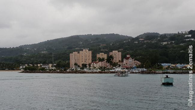 Ocho Rios kurorto panorama Jamaikoje