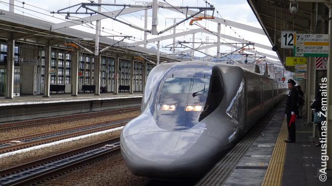 Greitieji Japonijos geležinkeliai - vieni moderniausių pasaulyje. Jie važinėja 250 km/h ir greičiau ir važinėja tarsi metro - kas kelias minutes. Pakanka ateiti bet kada į stotį ir galėsi važiuoti.