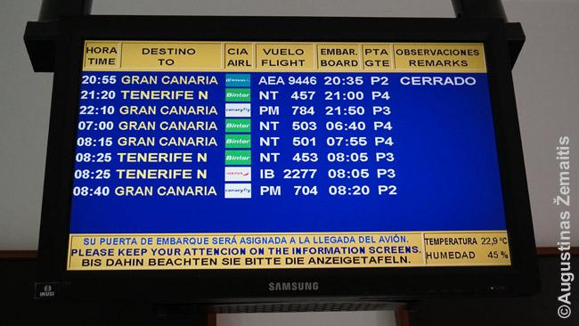 Dažni skrydžiai iš Lanzarotės į kitas salas