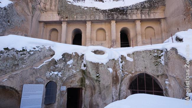 Cerkvės Ihlaros tarpeklyje fasadas