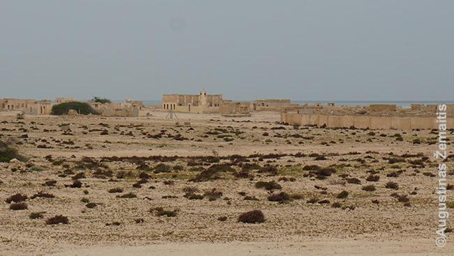 Apleistas dykumų kaimas Al Džumailis šiaurės Katare