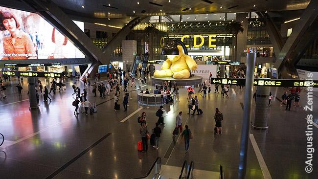 Dohos oro uoste. Tai, kartu su Qatar Airways, yra priežastis, kodėl Kataras taip lengvai pasiekiamas