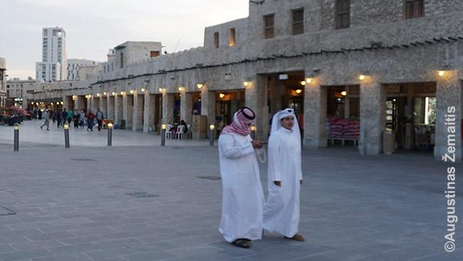 Katariečiai Dohos senamiestyje