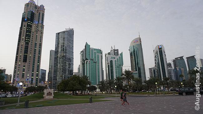 Dohos finansų centras, kur dirba daug ekspatų