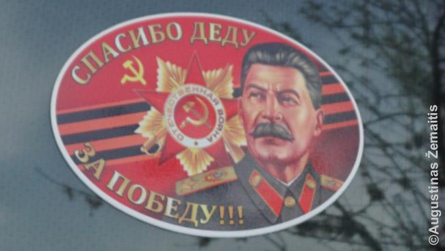 Kazachų kančios vietos rusai iki šiol nesupranta. Kai kurie jų net važinėja mašinomis su lipdukais su Stalino veidu