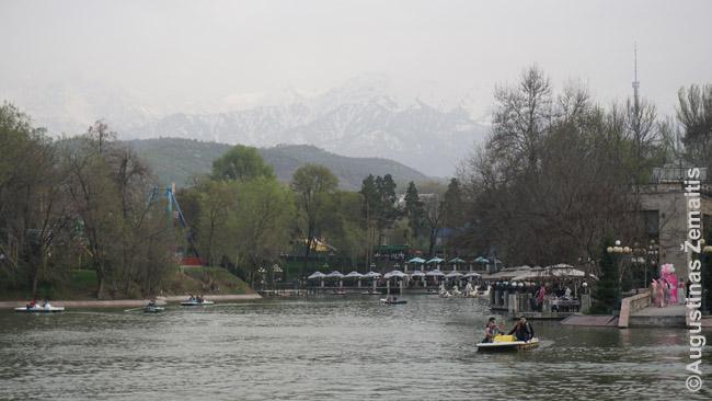 Centrinis Almatos parkas (Gorkio parkas), viena erdvių gėrėtis kalnais