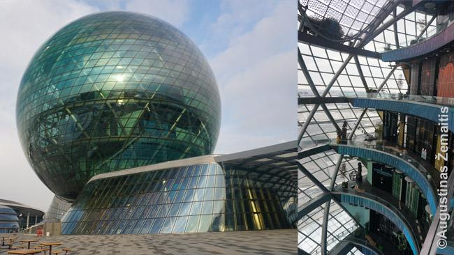 EXPO 2017 pagrindinis paviljonas. Kiekvienas jo aukštas skirtas vis kitai ateities energijos rūšiai. Aplinkiniai EXPO paviljonai virto verslo akceleratoriumi. Iki 2017 m. čia buvo plyna stepė.