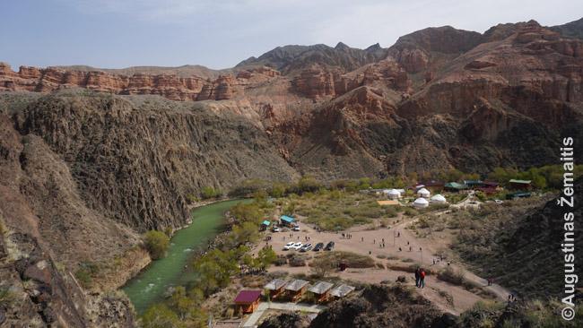 Šarynės kanjono vaizdas