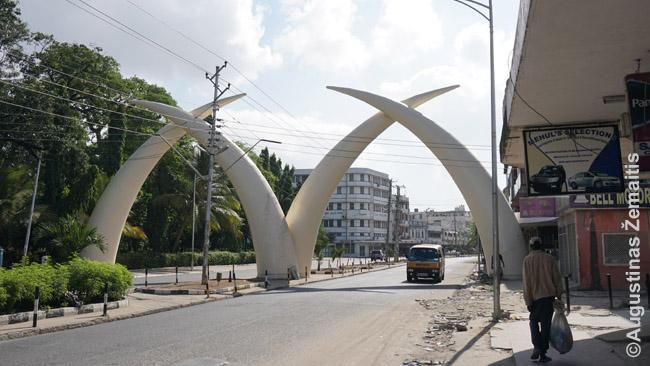 Ilčių paminklas - vienas Mombasos simbolių