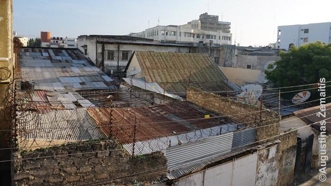 Įtvirtintas kiemas Mombasoje