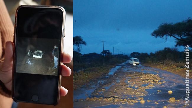 Paskendęs ispanų mikroautobusas Amboselyje