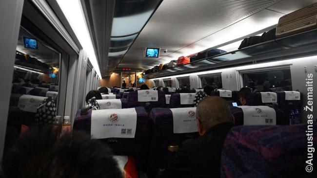 Antroji klasė greituosiuose Kinijos traukiniuose