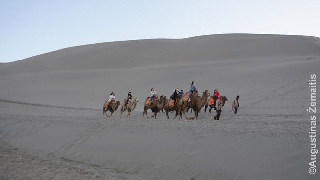 Pasijodinėjimas kupranugariais Kinijoje (Dunhuange) - vienintelė vieta, kur Kinijoje prekeiviai akivaizdžiai apgaudinėjo, reikalaudami papildomų, prieš tai neaptartų, pinigų