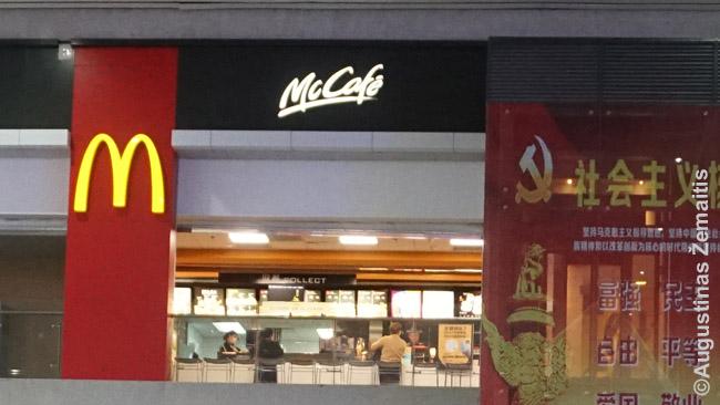 McDonald's ir kūjis su pjautuvu