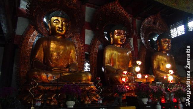 Budistų šventyklos ir statulos pradėtos statyti Tangų dinastijos laikais