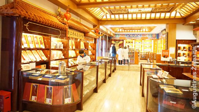 Tradicinių vaistų turgus Šanchajaus senamiestyje