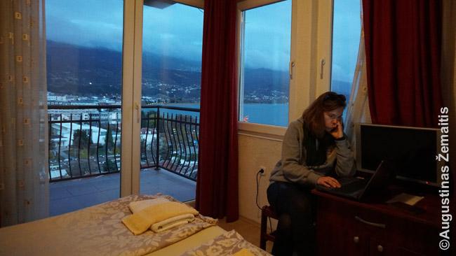 Viešbutis Ohride, pakeliui iš Albanijos į Skopję