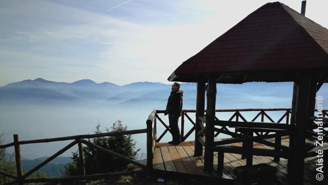 Debesų panorama nuo Vodno kalno