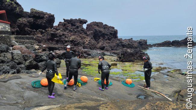 Tradicinių Čedžu moterų-narių, neriančių be balionų ir žvejojančių moliuskus, pasirodymas pakrantėje. Jei būtų populiaresnis, gal būtų atšauktas, bet trumpas, vyksta kasdien po kelis kartus, turistų nedaug - tai vyko, kaip visuomet