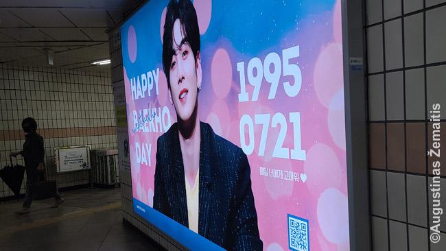 Kiekvieno Kpop dievuko gimtadienis švenčiamas tą mėnesį metro ir lauko reklamose užperkant aibę sveikinimo skelbimų