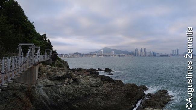 Pasivaikščiojimo takas Pusano pakrantėje (vienas daugelio)
