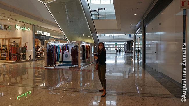 Apytuščiame Kataro prekybos centre