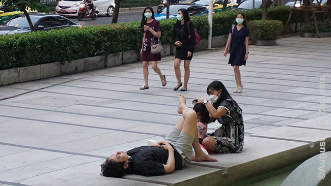 Bankoko gatvės vaizdas
