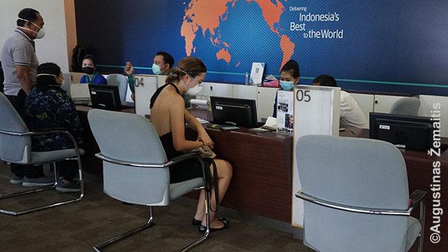 Garuda Indonesia ofise perkame bilietus