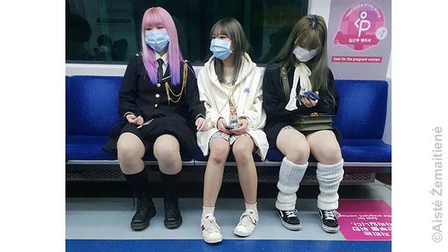 Veido kaukės Pietų Korėjoje