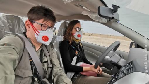 2020 m. kovas - atvykę į Katarą dėl epidemiologinės situacijos ten pakeitėme planą važinėti po Dohą viešuoju transportu ir oro uoste išsinuomavome automobilį