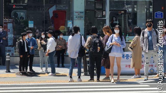 Pusano gatvės vaizdas