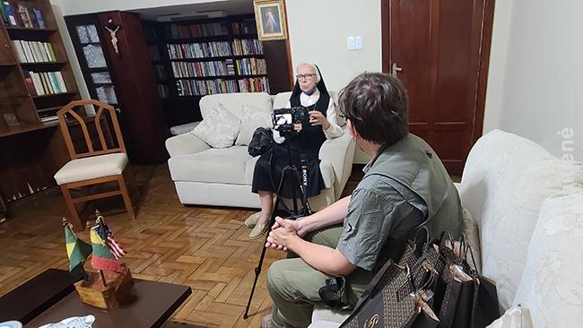 Įrašinėjame interviu su Rūta