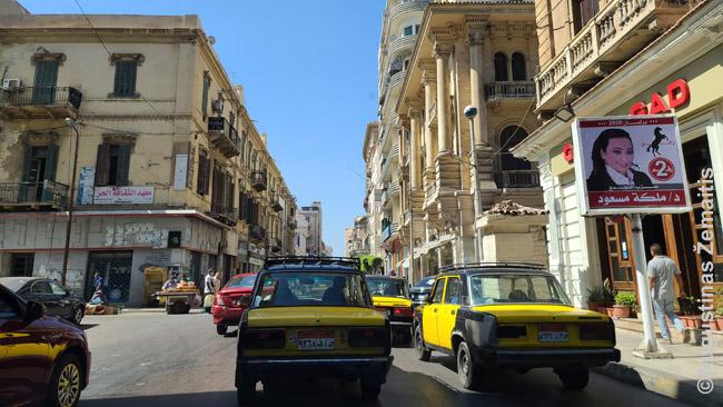 Aleksandrijos centras, kur 95% taksi - Žiguliai