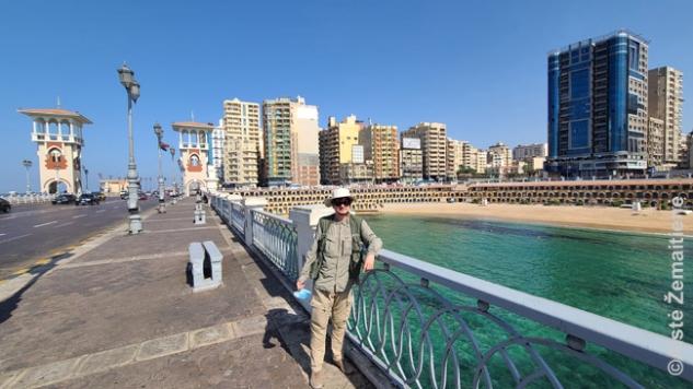 Palei vieną garsiausių paplūdimių Aleksandrijoje