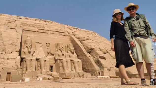 Prie Abu Simbelo šventyklos